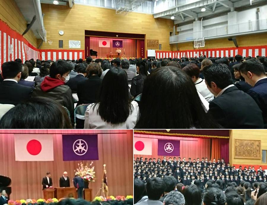 世田谷区立中学校の卒業式に参列しました。