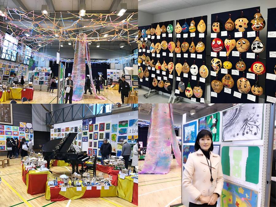 世田谷区立の多くの小学校で展覧会