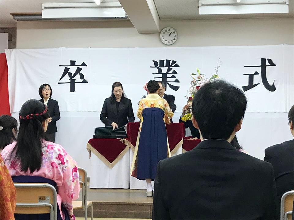 福祉専門学校卒業式